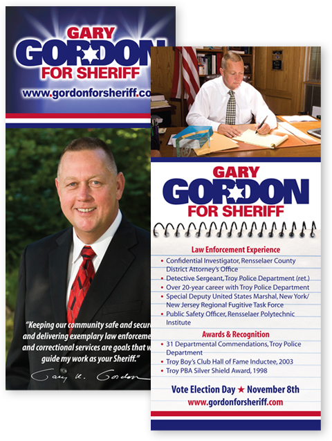 Gary Gordon for Sheriff | Palm Cards | Blue State Strategies