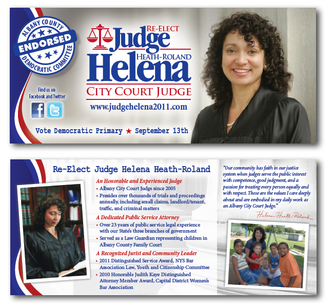 Judge Helena-Heath Roland | Palm Cards | Blue State Strategies