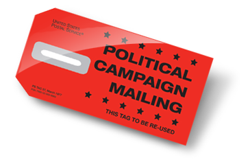 Political Campaign Mailing Tag